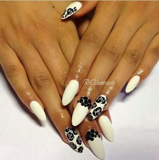 White and black nail