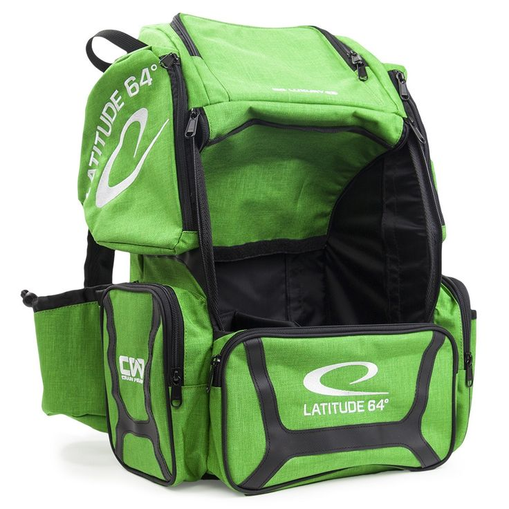 Latitude 64 DG Luxury E3 Green and Backpack Disc Golf Bag