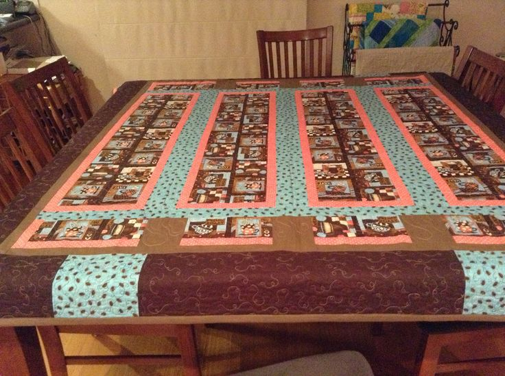 Coffee Mugs Tablecloth Quilted