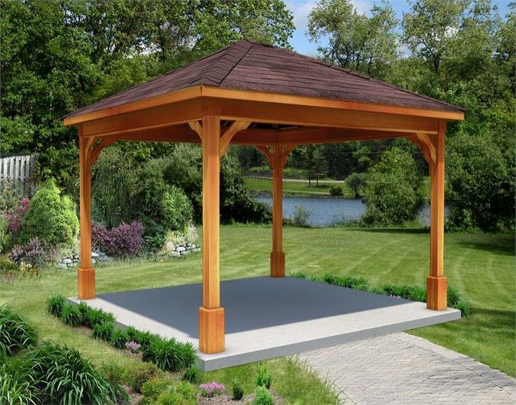 Hot Tub Gazebo With 4 Posts Hot Tubs Pinterest