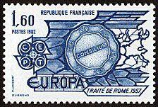 FRANCE  1982 EUROPA CEPT Traité de Rome 1957