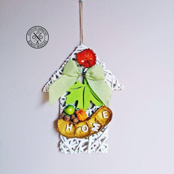 Zöld-narancs vesszőházikó - megvásárolható a webáruházban