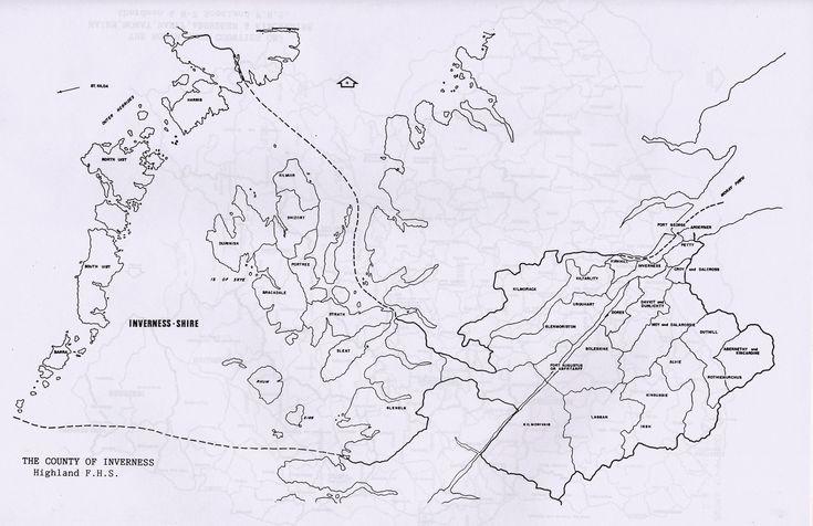 Parish maps of Inverness county from Scotlandsfamily.com - Scottish genealogy portal assisting Scottish ancestor search