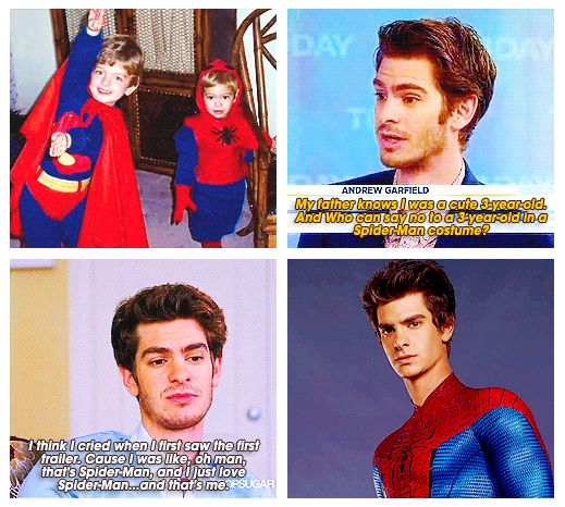 """"""" I've been a fan of Spider-Man since I was three years old. I needed Spidey when I was a kid and he gave me hope. He made me, Andrew, braver. Spider-Man has saved lives, and he saved my life."""" - Andrew Garfield"""
