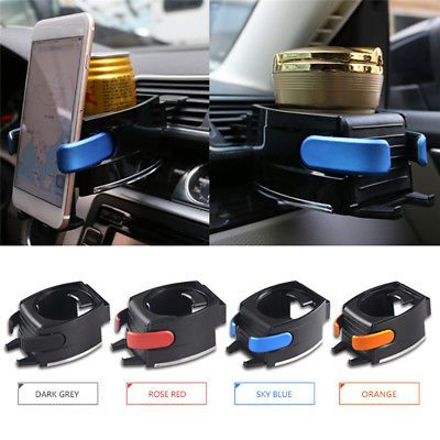 New Car Air Vent Cup Holder Adjustable Car Drink Stand + Cell phone Mount Holder