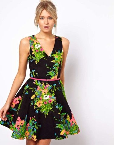 Oasis | Oasis Floral Print Fit And Flare Dress at ASOS