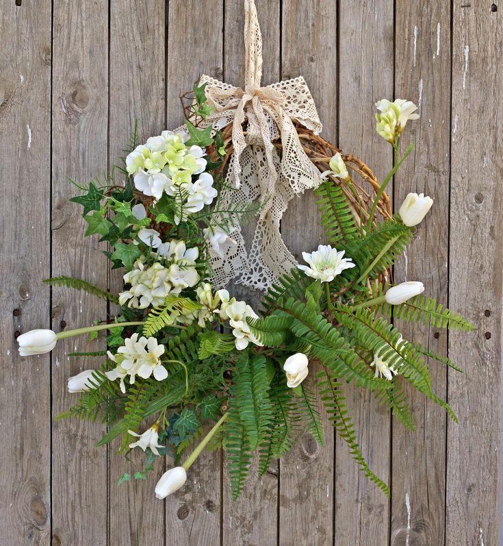 Spring Wreaths for Front Door, Flower Wreath, Floral Wreaths, Summer Wreaths, Spring Decor, Summer Decor, Grapevine Spring Summer Wreath