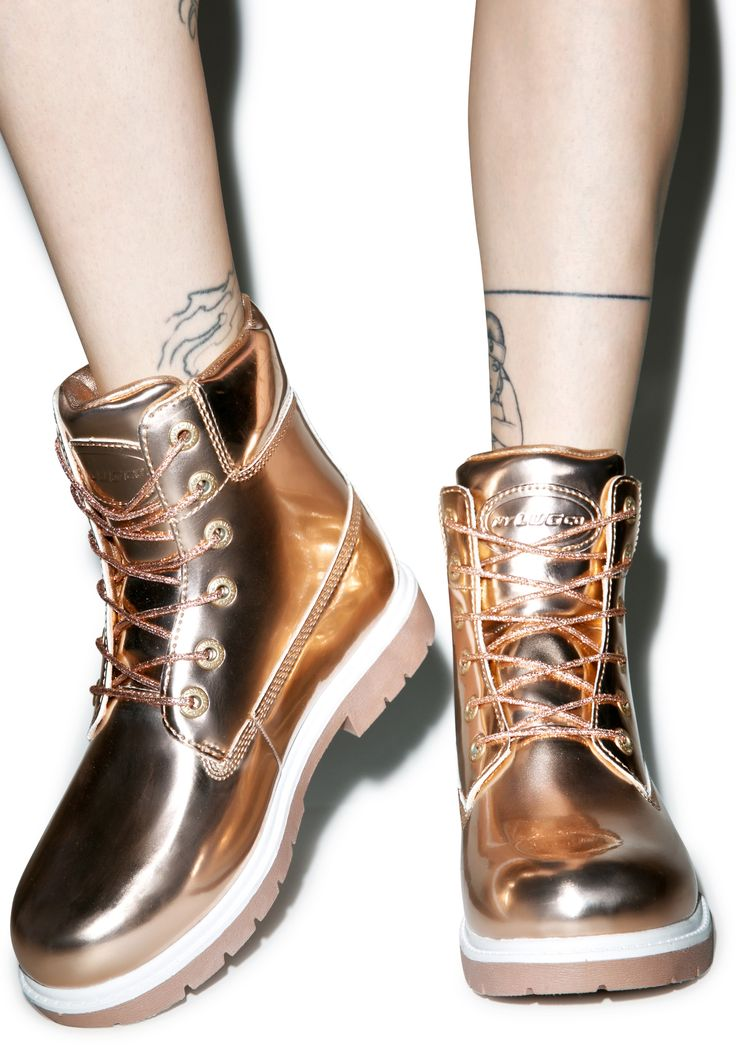 Lugz Rose Gold Shifter Boots   Dolls Kill