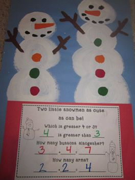 Snowmen Math Craftivity  I think this would make a great class book to send home and students can read with parents