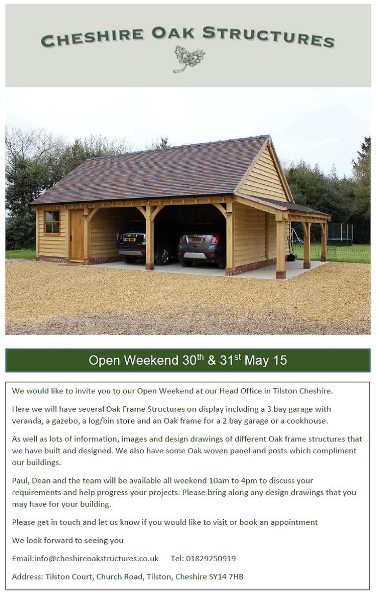 8 best 3 bay garages cheshire oak structures images on pinterest we are having an open weekend 30th 31st may at our hq in tilston garage