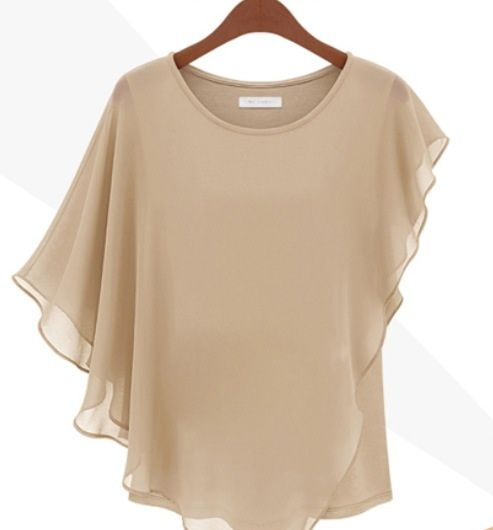 Wear this cute top with pants, jeans, shorts or a skirt. It is so versatile.   Perfect for spring/summer. Comes in Beige or Blue. Our online Shop http://luluforyou.bigcartel.com/