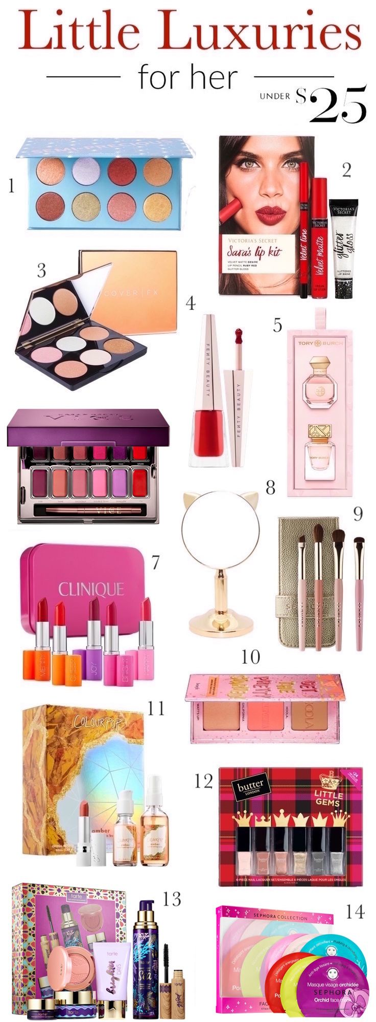 Holiday beauty and makeup gift ideas for friends   Whether you are shopping for your favorite ladies or want to spoil yourself, these beauty gifts under $25 are sure to impress the beauty obsessed!