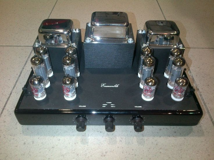 Synthesis Ensemble Integrated Tube Amplifier    The Art of Sound    DEMO UNIT, BLACK LAQUER FINISH    Perfect Conditions, Really As New!!!        Technical specifications:  Power stage: 4 x 6BQ5/EL84  Driver: 12AU7-ECC82  Input stage: 12AU7-ECC82  Controls: Front:Input switch selector, volume. Rear: Power button, male power sck, RCA gold plated conncectors, power connectors, protection fuses.  Inputs: Cd player, Tuner, Video, AUX1, AUX2.  Outputs: Parallel push-pull  Configuration: Tape…