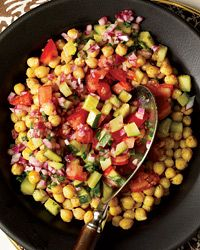 Spicy Chickpea Salad // More Great Vegan Dishes: http://fandw.me/h9Z #foodandwine