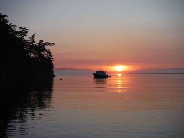 Incredible sunset - view from Matia Island in the San Juan Islands  #kayak #sunset