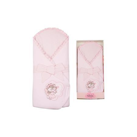 """SOFIJA Конверт на выписку """"Moli"""", SOFIJA, розовый  — 2290р. ---- Moli - конверт для выписки от известного польского бренда детских товаров Sofija(София). Выполнен из 100% хлопка высокого качества и отлично подойдет для прогулок после выписки. Конверт украшен декоративным бантом, оборками, вышивкой и милым принтом с ангелочком. Ткань приятна телу и не вызывает раздражения. Прогулки с таким конвертом будут комфортны и для малыша, и для родителей! Дополнительная информация: -застегивается на…"""