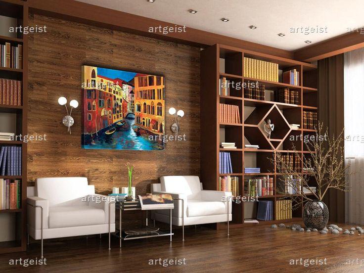 """""""Barwna Wenecja"""" nada Twojemu wnętrzu charakteru w biurze i w domu, dobrze komponując się zarówno z elementami drewnianymi w stylu klasycznym, jak i modernistycznymi meblami w nowoczesnych przestrzeniach.#obrazy #recznie #malowane #tryptyki #dekoracje #ścienne #sztuka #malarstwo #wnętrza #miasta #wenecja"""