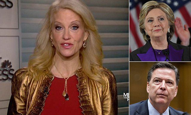 Trump campaign manager Conway says Hillary should 'look in the mirror'