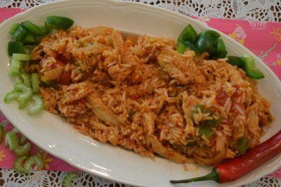 Kip Jambalaya een kruidig rijstgerecht