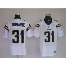 Chargers Antonio Cromartie #31 Stitched White NFL Jersey