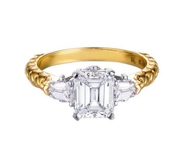 So my style , gold band, emerald cut with baguettes !! <3