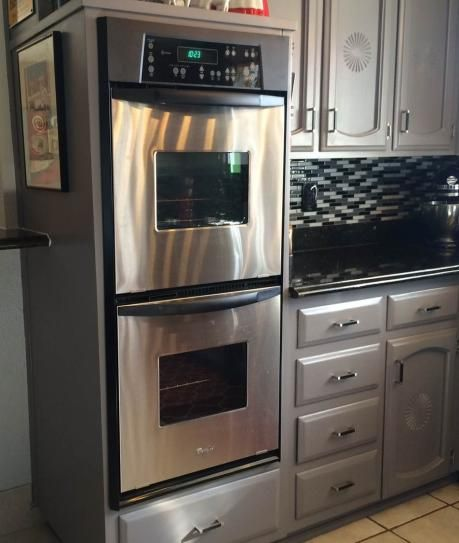 whirlpool 24 in double electric wall oven in stainless steel