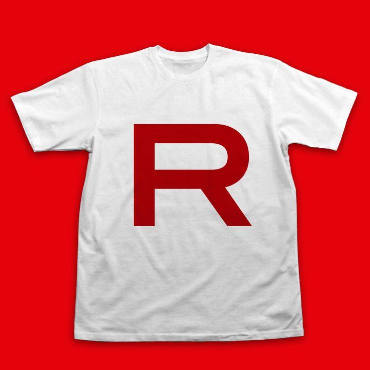 Camiseta del equipo Rocket Pokemon Cosplay camiseta equipo Rocket de InksterInc en Etsy https://www.etsy.com/es/listing/191020483/camiseta-del-equipo-rocket-pokemon