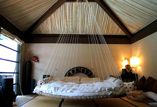 25 Hanging Bed Designs Floating in Creative Bedrooms-oh wow