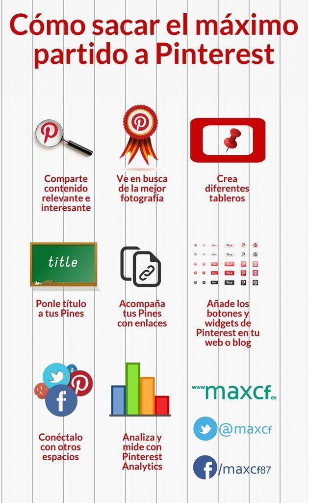 Cómo sacar el máximo partido a Pinterest #infografia