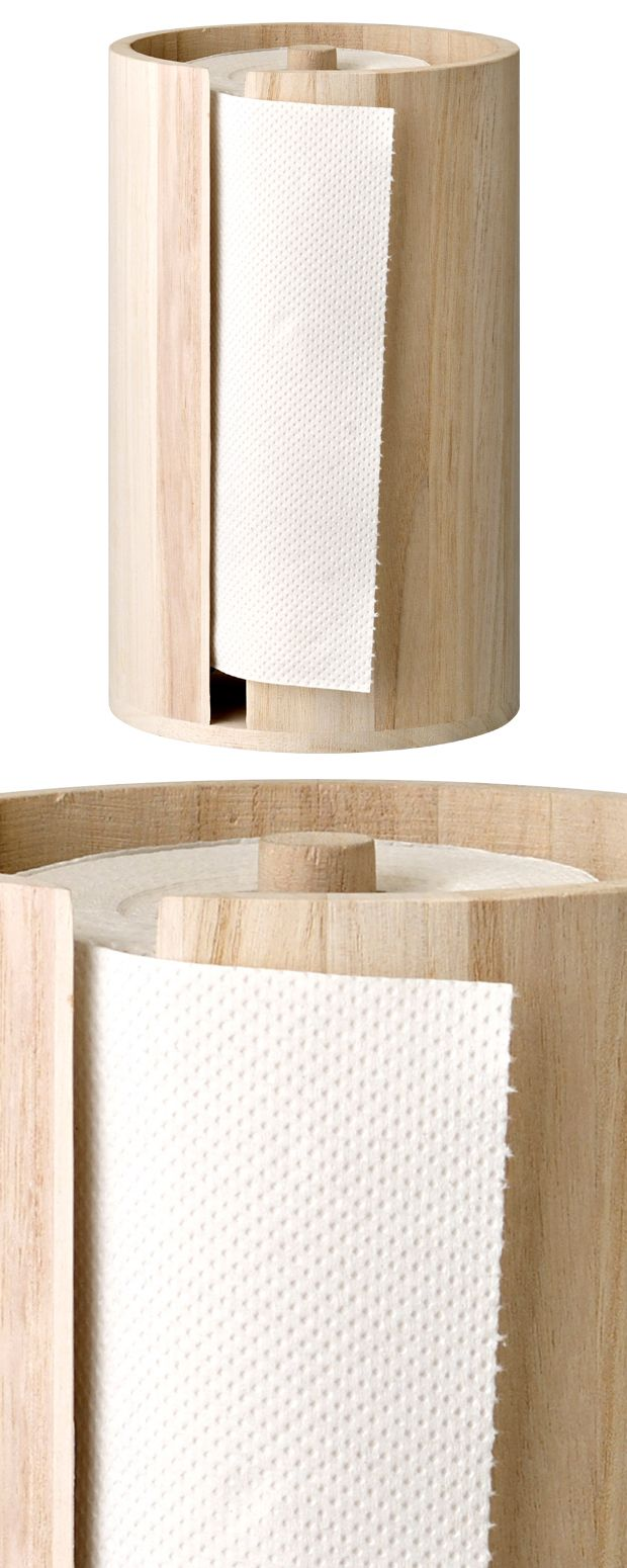 Do Your Kitchen A Favor With This Stylish Addition The Ambaum Wood Paper  Towel Holder