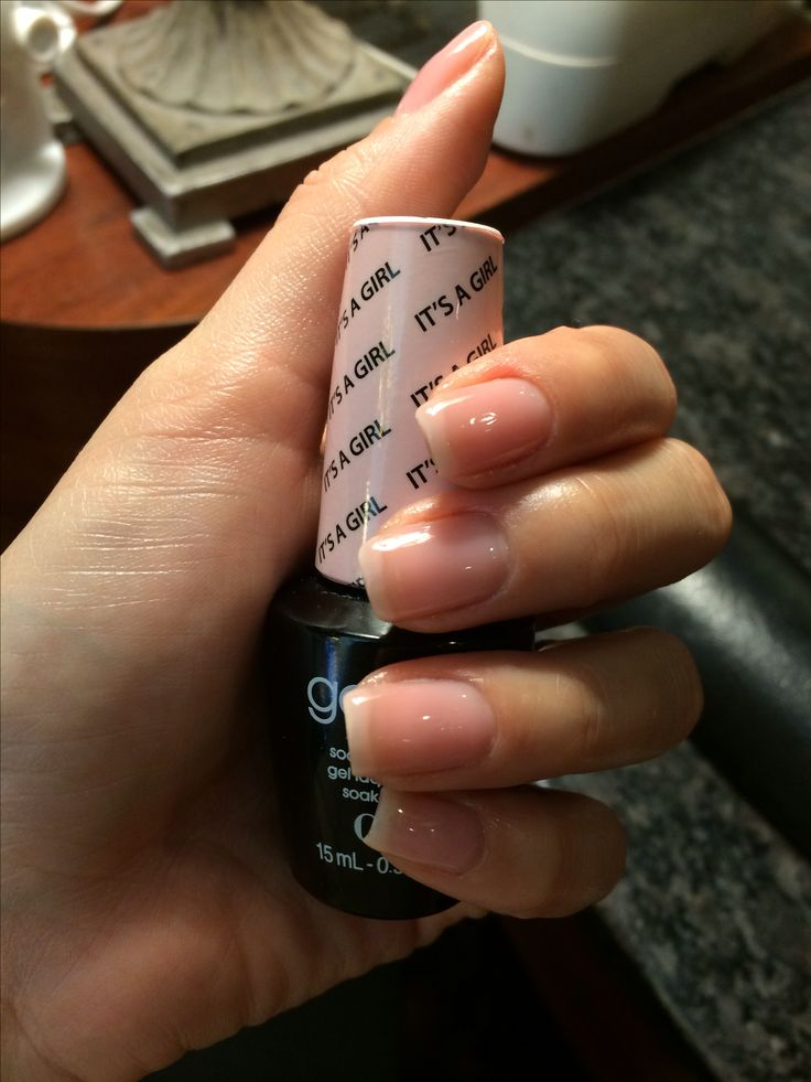 """Love my nails! """"It's a girl"""" by OPI gel color"""