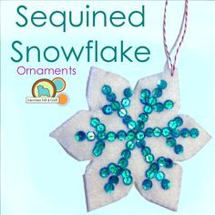 pailettenflocken Felt Snow Flake Ornament Tutorial