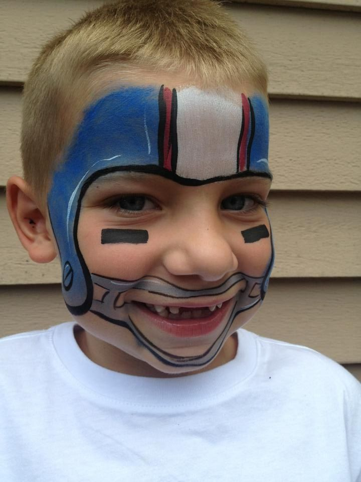 American Football Lovers Football Face Paint Designs Face Painting Football