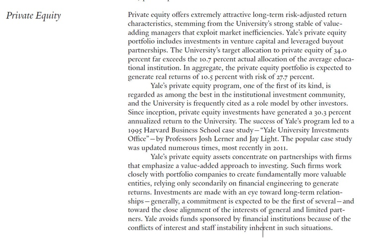 yale university investment office 2006 At its june 2006 meeting, yale's investment committee adopted a number of  changes in the university's policy portfolio allocations the combination of  valuation.