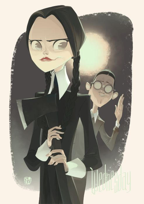 Wednesday Addams by Otto Schmidt