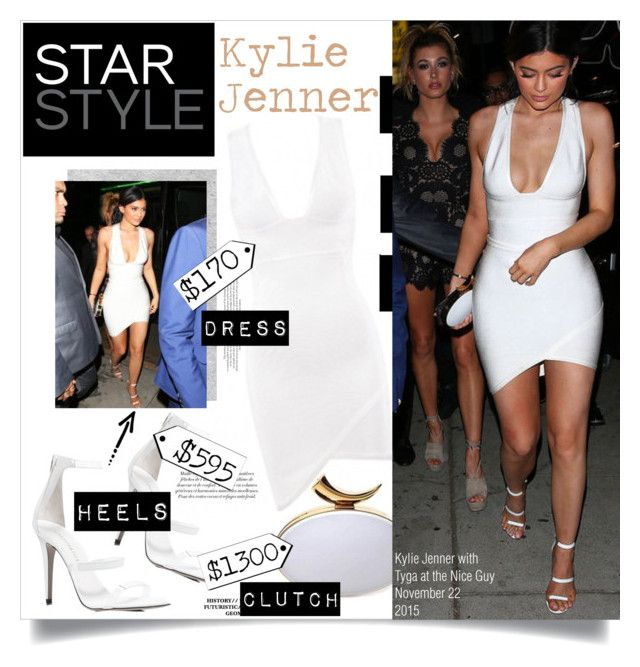 """""""The Little White Dress With Kylie Jenner"""" by chocolate-addicted-angel on Polyvore featuring House of CB, Giuseppe Zanotti and Tamara Mellon"""