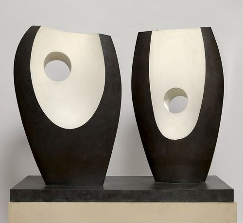 """ronulicny: """"Two Forms With White"""", c. 1969 By: BARBARA HEPWORTH…."""