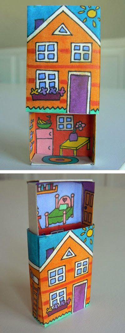mommo design: PAPER CRAFTS - matchbox house