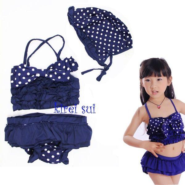 Kirei Sui Navy Blauwe Polkadot Bikini