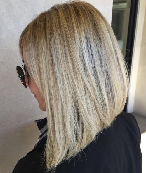 Angled Blonde Lob