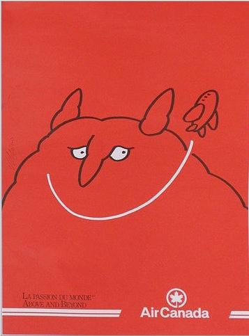 Vittorio Fiorucci (1932-2008) - Air Canada Poster, Just For Laughs Festival, Montréal.