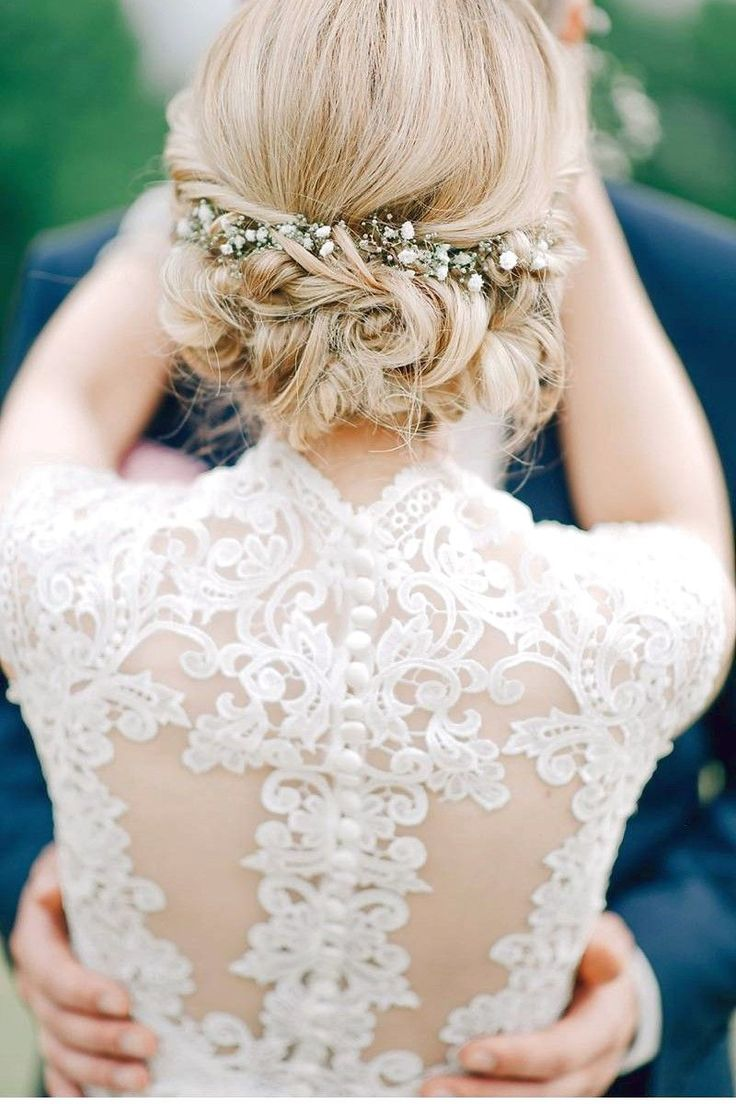 Beautiful wedding hairstyles - en 2020 | Chignon cheveux court, Coiffure mariage cheveux courts ...