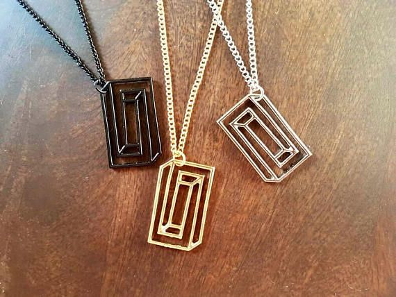 Hey, I found this really awesome Etsy listing at https://www.etsy.com/uk/listing/552541270/geometric-necklace-rectangle-necklace