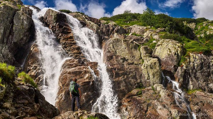 Siklawa waterfall. One of the most beautiful natural waterfall in Tatra mountains.