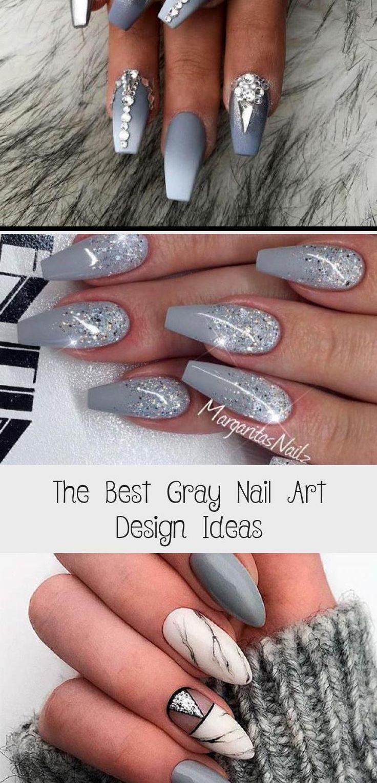 Coffinnailsombre Coffinnailsmatte Coffinnailsgel Pastelcoffinnails Coffinnailsrainbow Cute Light Gray C Gray Nails Grey Nail Art Grey Nail Designs