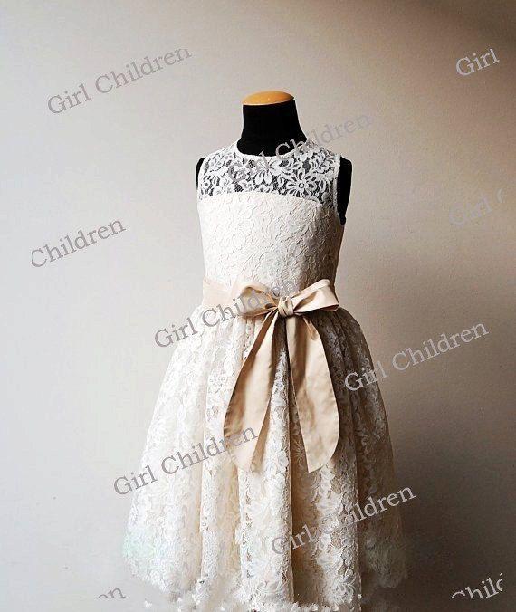 2015 GIRLS Party Dress Flower Girl Wedding Bridesmaid Age 2-14 Flower Girl Dress
