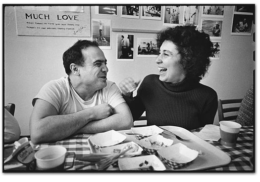 Danny DeVito & Rhea Perlman, Salem, 1974 - by Mary Ellen Mark