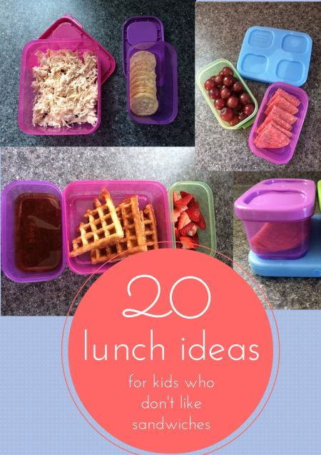 Quick and easy lunch ideas for kids who don't like sandwiches every day.