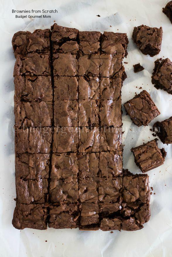 Brownies from Scratch www.budgetgourmetmom.com #triedandtrue #recipe #triplechocolate