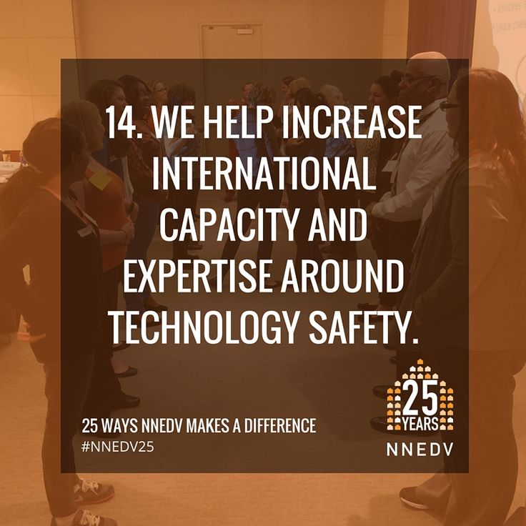 Safety Net has launched a sister project in Australia and has provided international technology safety trainings in Canada, Austria, Ireland, Portugal, the UK, and the Netherlands. #NNEDV25